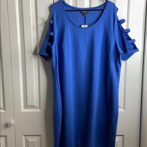 2/$12 NWT Bold elements size 3X blue curvy dress